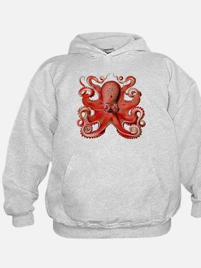 Red Octopus Hoodie