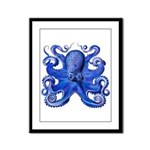 Blue Octopus Framed Panel Print