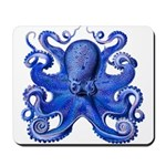 Blue Octopus Mousepad