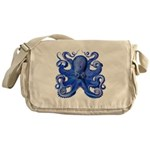 Blue Octopus Messenger Bag