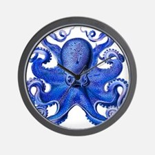 Blue Octopus Wall Clock