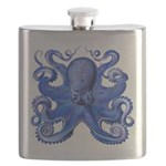 Blue Octopus Flask