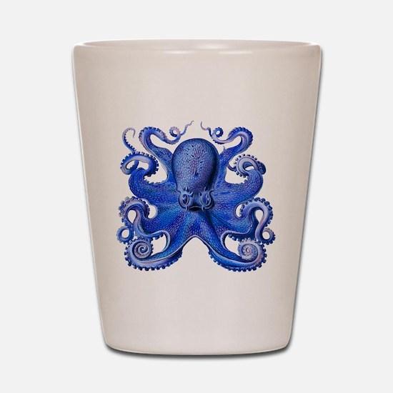 Blue Octopus Shot Glass