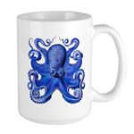 Blue Octopus Large Mug