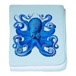 Blue Octopus baby blanket
