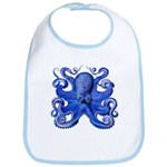 Blue Octopus Bib