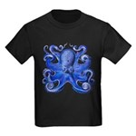 Blue Octopus Kids Dark T-Shirt