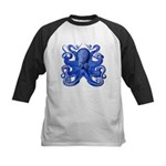 Blue Octopus Kids Baseball Jersey
