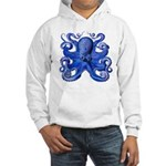 Blue Octopus Hooded Sweatshirt