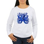 Blue Octopus Women's Long Sleeve T-Shirt