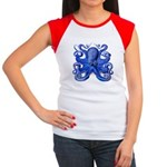 Blue Octopus Women's Cap Sleeve T-Shirt