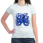 Blue Octopus Jr. Ringer T-Shirt