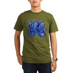 Blue Octopus Organic Men's T-Shirt (dark)