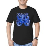 Blue Octopus Men's Fitted T-Shirt (dark)