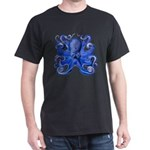 Blue Octopus Dark T-Shirt