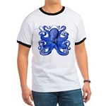 Blue Octopus Ringer T