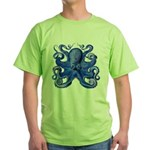Blue Octopus Green T-Shirt