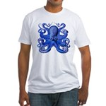 Blue Octopus Fitted T-Shirt
