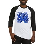 Blue Octopus Baseball Jersey