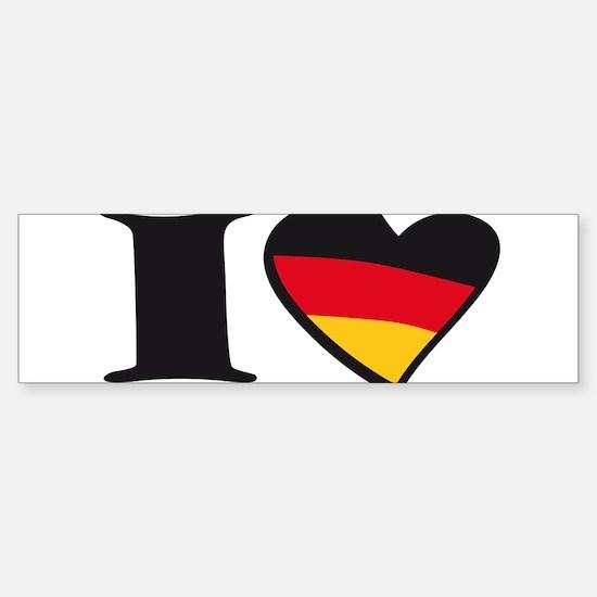 i love germany Sticker (Bumper)