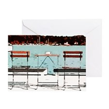 Seaside Table for Two Greeting Card