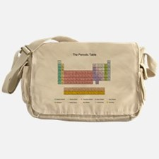 Colorful Periodic Table Messenger Bag