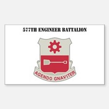 DUI - 577th Engineer Battalion with Text Decal