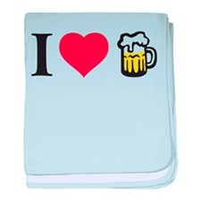 i love beer baby blanket