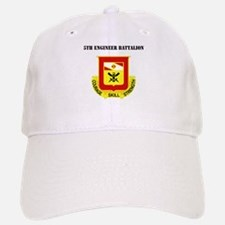 DUI - 5th Engineer Battalion with Text Baseball Baseball Cap