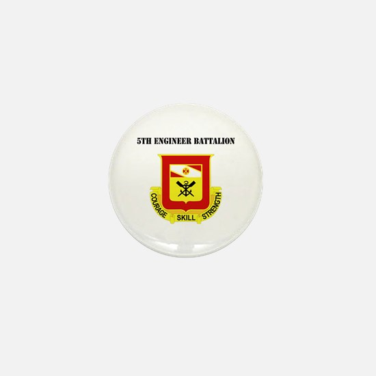 DUI - 5th Engineer Battalion with Text Mini Button