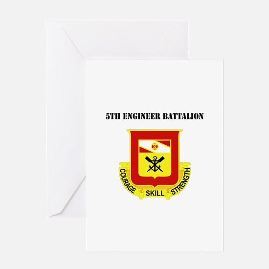 DUI - 5th Engineer Battalion with Text Greeting Ca