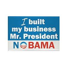 I Built My Business Mr. President Rectangle Magnet