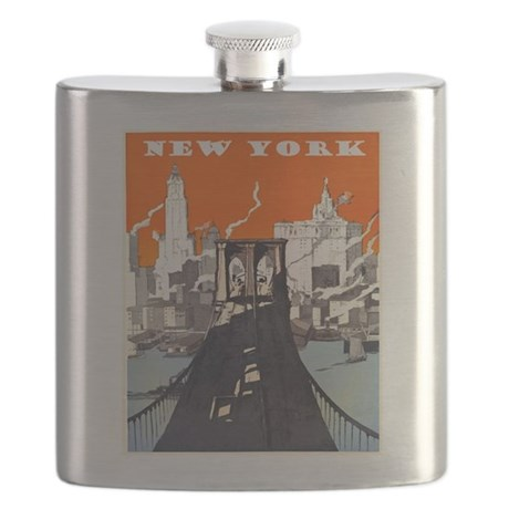 Vintage New York Flask
