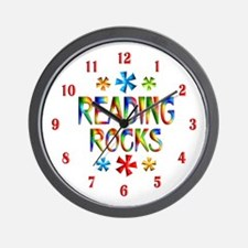 Reading Rocks Wall Clock