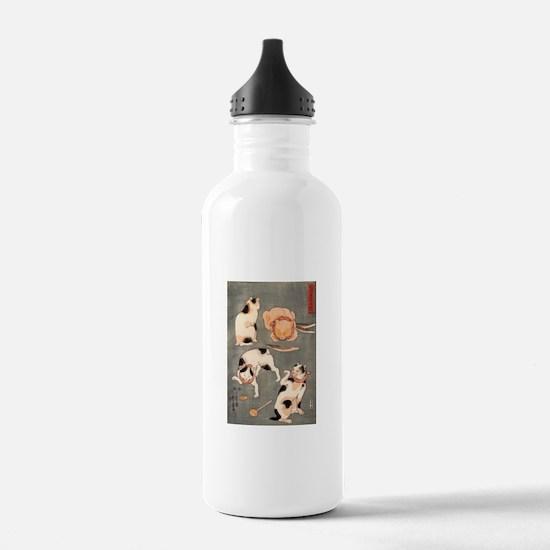 Utagawa Kuniyoshi Cats Water Bottle