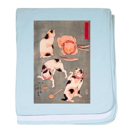 Utagawa Kuniyoshi Cats baby blanket