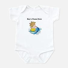 Personalize Boy on Watercraft Infant Bodysuit