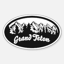 Grand Teton Sticker (Oval)