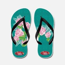 Funny Beauty and the beast Flip Flops