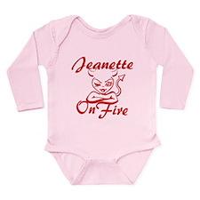 Jeanette On Fire Long Sleeve Infant Bodysuit