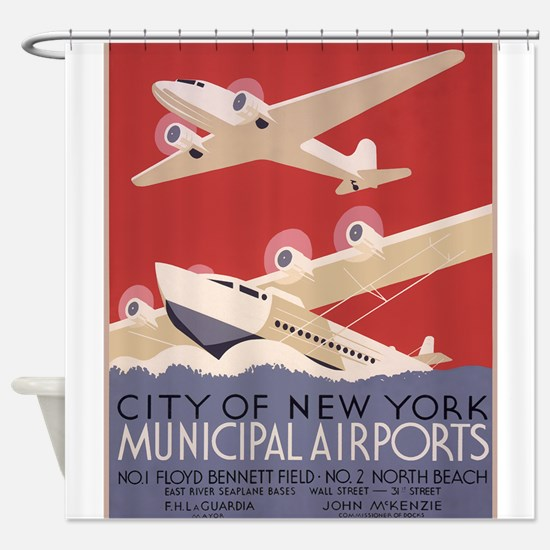 New York Airport Shower Curtain