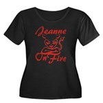 Jeanne On Fire Women's Plus Size Scoop Neck Dark T