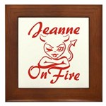 Jeanne On Fire Framed Tile