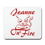 Jeanne On Fire Mousepad