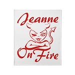 Jeanne On Fire Throw Blanket