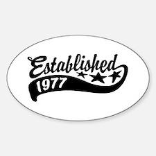 Established 1977 Decal