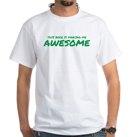 Beer Awesome White T-Shirt