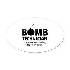 Bomb Technician Oval Car Magnet