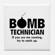 Bomb Technician Tile Coaster