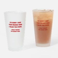 I'm Sorry Drinking Glass